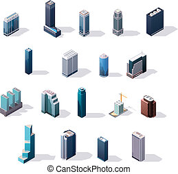 Vector isometric City Center constructor