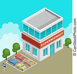Vector Isometric supermercado