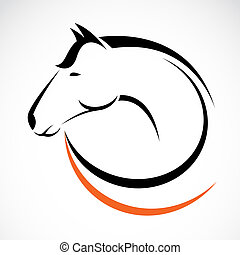 Vector jefe de caballo