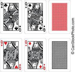Vector jugando a las cartas