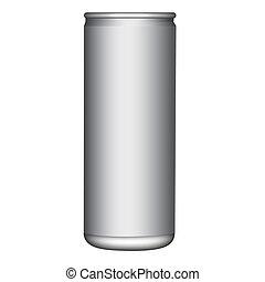 vector, lata, alumunium, blanco