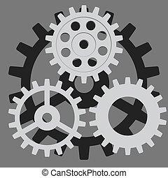 Vector listo. Engranaje, engranaje, engranaje, rueda