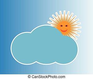 vector, logotipo, sol
