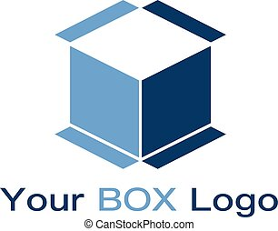 vector, mínimo, logotipo, casa, caja