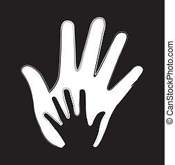 vector, manos
