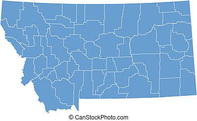 Vector mapa Montana