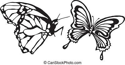 Vector-mariposa