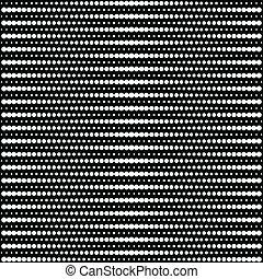 Vector medio punto - blanco y negro