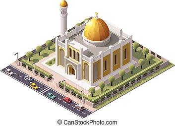 Vector mezquita isometrica
