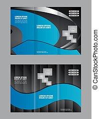 Vector moderno folleto tri-pliego