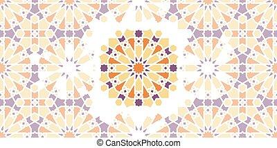 vector, mosaico, árabe, islámico, seamless, pattern.