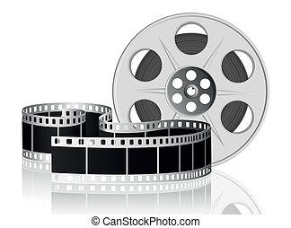 vector, movie., illustration., película, torcido