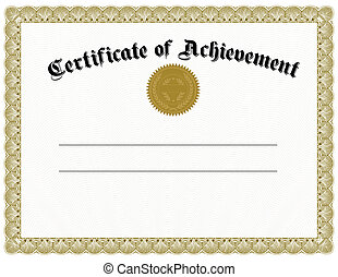 vector, oro, certificado, sello