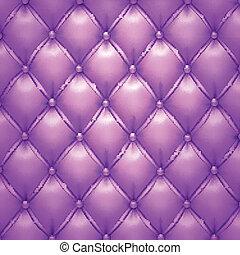 Vector púrpura de tapicería de cuero.