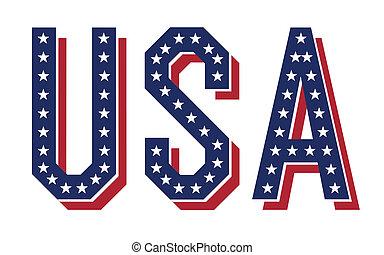 vector, palabra, eps10., estados unidos de américa