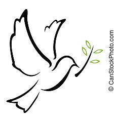 vector, paloma, paz