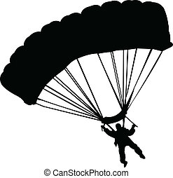 vector, -, paracaidistas