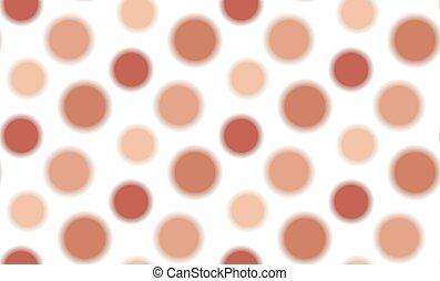 vector, patrón, simple, seamless, círculos, marrón
