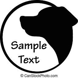 vector, perro, ilustración, icono