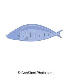 vector, pez, fondo blanco, ilustración