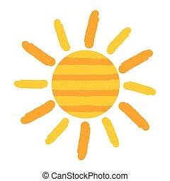 Vector pintado de sol