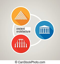 Vector plano arquitectura antigua