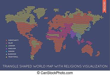 Vector plano del mundo mapa infográfico. Mapa del mundo.