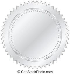 vector, plata, ilustración, sello