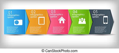 vector, proceso, mejoras, ilustración negocio, concepto, chart.
