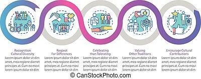 vector, racial, infographic, empowerment, multi, plantilla