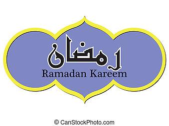 vector, ramadan, ilustración, kareem
