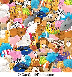 Vector reagrupado con animales
