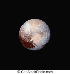 Vector realista planeta ilustración de Plutón