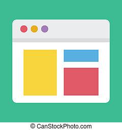 Vector responde al icono de diseño web