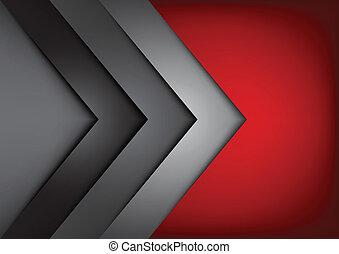 Vector rojo superposición de dimensión
