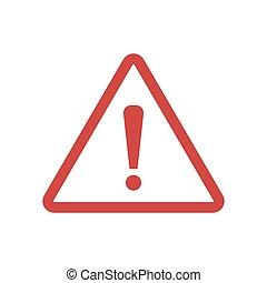 vector, señal, ilustración, fondo., blanco, aislado, peligro