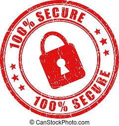 Vector sello seguro