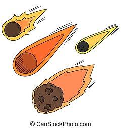 Vector set de cometa