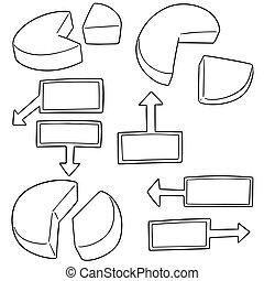 Vector set de gráfico de pastel