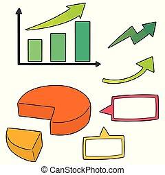 Vector set de gráfico