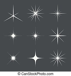 Vector set de luces brillantes
