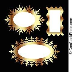 Vector Set de marcos dorados