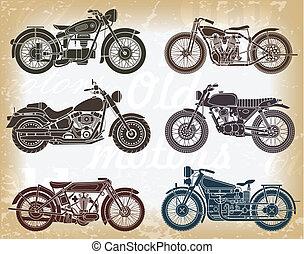 Vector set de motocicletas clásicas