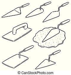 Vector set de pala