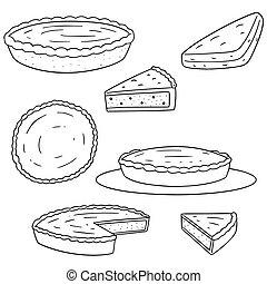 Vector set de pastel
