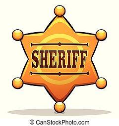Vector sheriff diseño de color placa