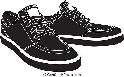 vector, shoes, deporte