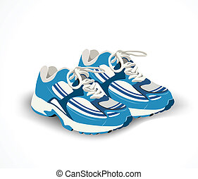 vector, shoes, sneakers., deporte, ilustración