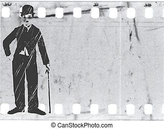 Vector silueta caplin en la vieja película