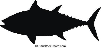 Vector silueta del atún.
